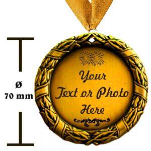 medaille mit Wunschtext