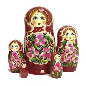 Matroschka Babuschka Holz Puppen Geschenk Russische Handgemachte Puppe